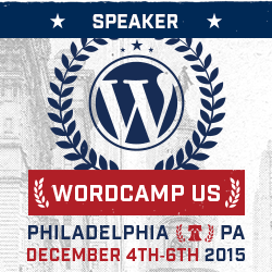 WordCamp US Speaker badge